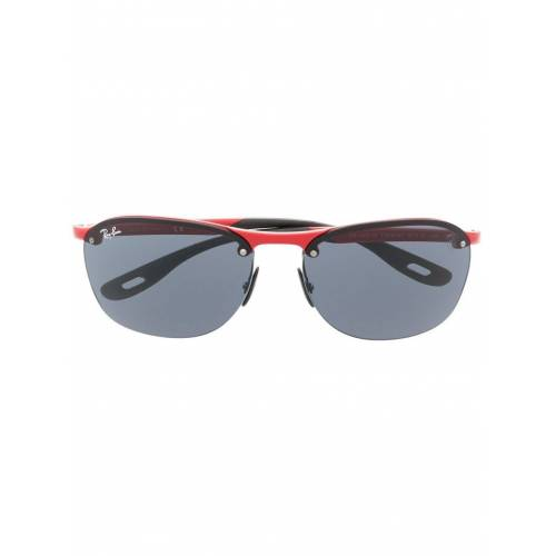 Ray-Ban Ovale Sonnenbrille - Rot Male regular