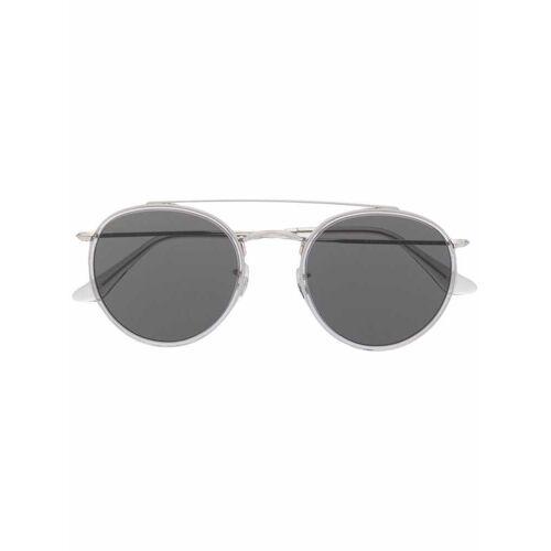 Ray-Ban Runde Sonnenbrille mit Doppelsteg - Silber Male regular