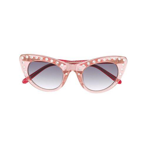 Nº21 Cat-Eye-Sonnenbrille mit Kristallen - C3SUN Male regular