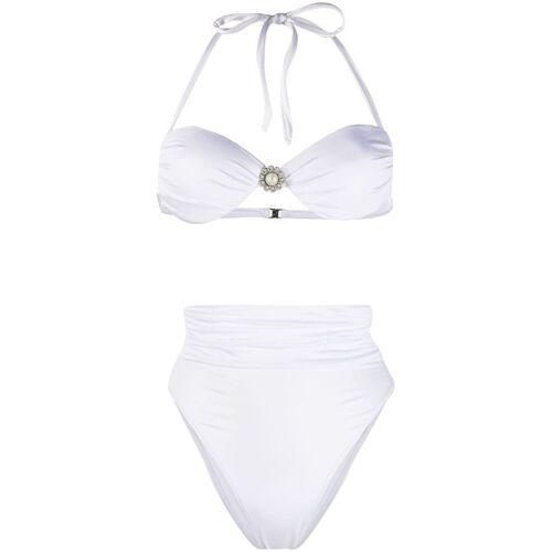 Alessandra Rich Bikini mit hohem Bund - Weiß Male regular