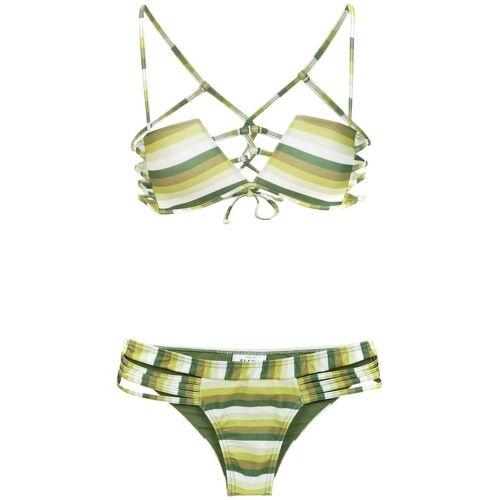 Amir Slama Gestreifter Bikini - Grün Female regular