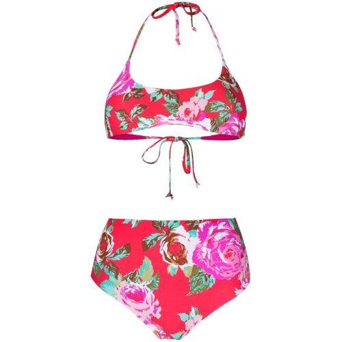 Fisico Bikini mit Blumen-Print - Rot Male regular