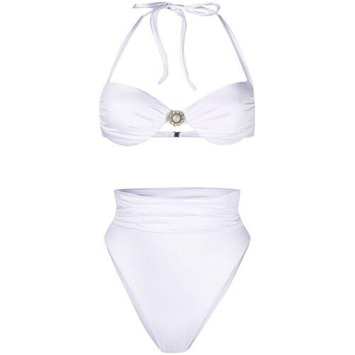 Alessandra Rich Bikini mit Perlen - Weiß Female regular