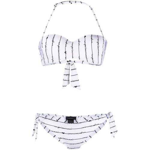 Giorgio Armani Emporio Armani Bikini mit Logo - Weiß Unisex regular