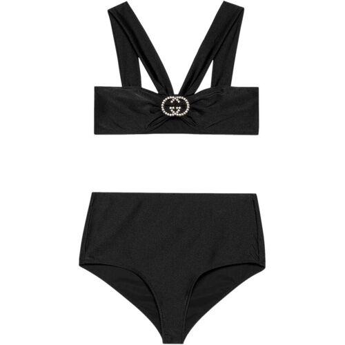 Gucci Jersey-Bikini mit GG - Schwarz Male regular