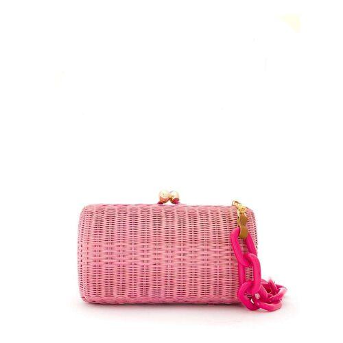 SERPUI Clutch aus Korbgeflecht - Rosa Male regular