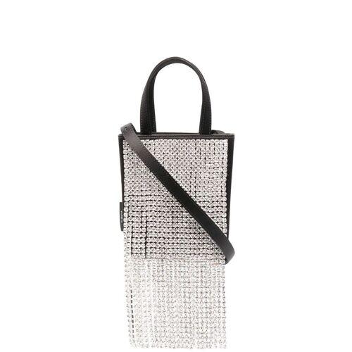 tubici Mini-Tasche mit Kristallfransen - Schwarz Male regular