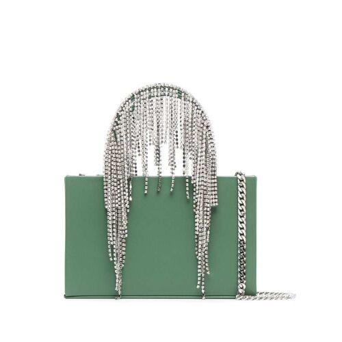 Kara Mini-Tasche mit Kristallfransen - Grün Female regular
