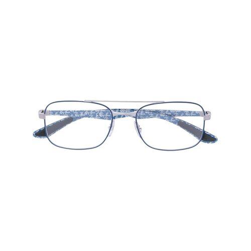 Ray-Ban Rechteckige Brille - Blau Male regular