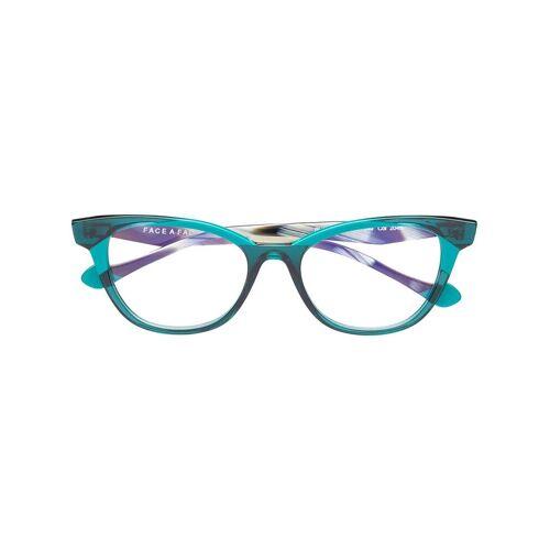 Face À Face Cat-Eye-Brille - Grün Male regular