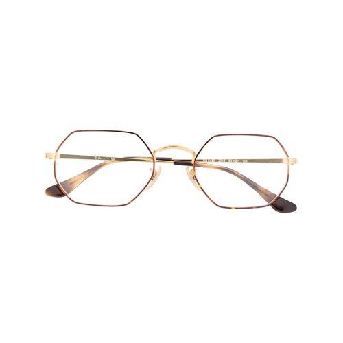 Ray-Ban Achteckige Brille - Gold Unisex regular