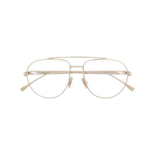 Fendi Eyewear Brille mit Kristallen - Gold Female regular
