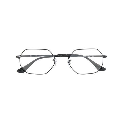 Ray-Ban Achteckige Brille - Schwarz Unisex regular