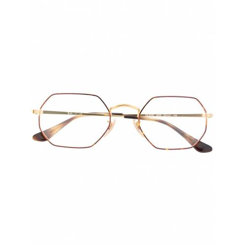 Ray-Ban Achteckige Brille - Gold Female regular