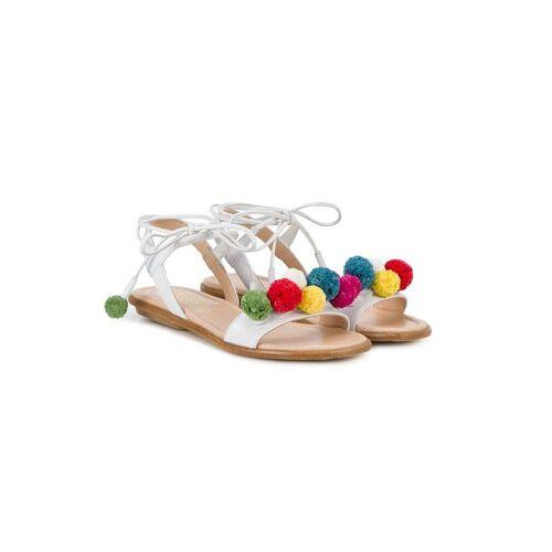 Aquazzura Mini Sandalen mit Bommeln - Weiß Male regular