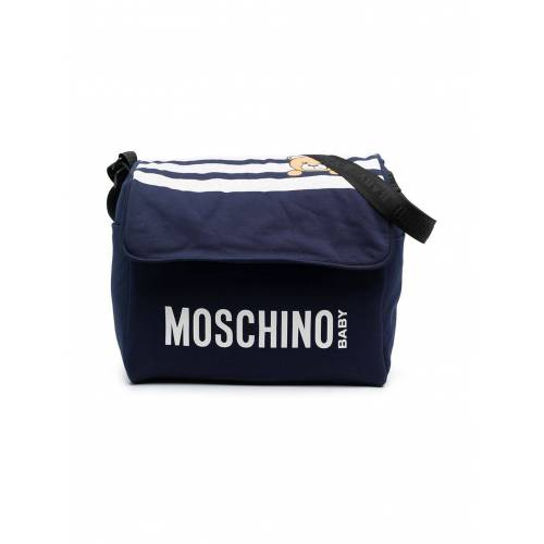 Moschino Kids Wickeltasche mit Teddy - Blau Unisex regular