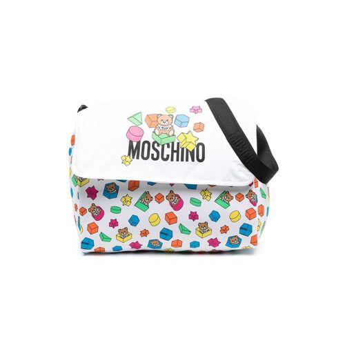 Moschino Kids Wickeltasche mit Teddy-Print - Weiß Male regular