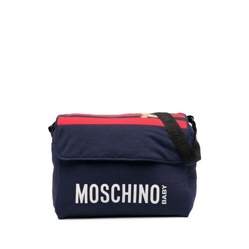 Moschino Kids Wickeltasche mit Logo-Print - Blau Unisex regular