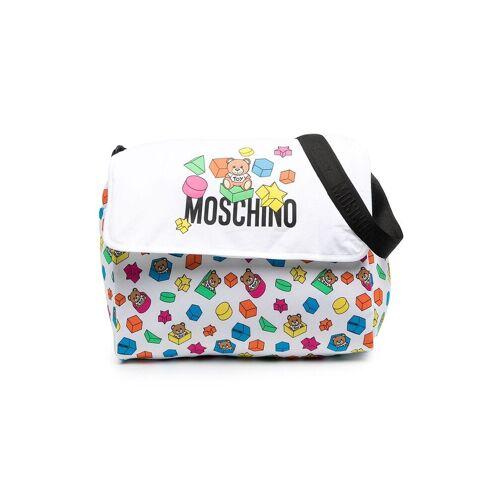 Moschino Kids Wickeltasche mit Logo-Print - Weiß Female regular