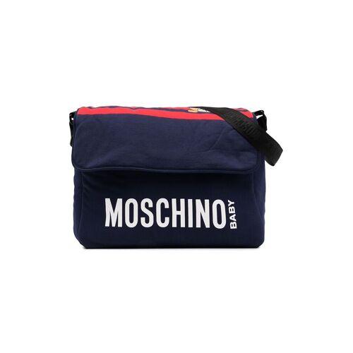 Moschino Kids Wickeltasche mit Logo-Print - Blau Female regular