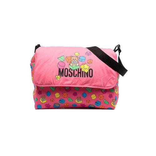 Moschino Kids Wickeltasche mit Teddy - Rosa Male regular