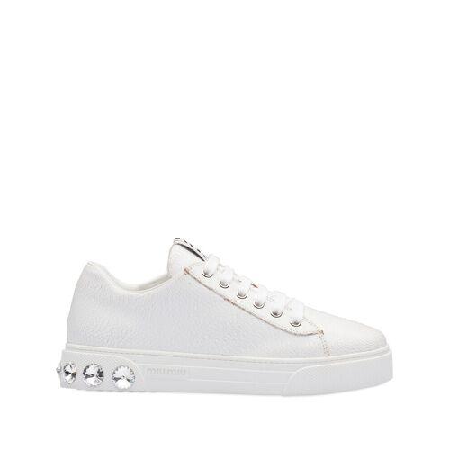 Miu Miu Sneakers mit Kristallnieten - Weiß Unisex regular