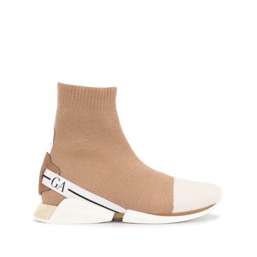Giorgio Armani Sneakers mit Stretchband - Braun Female regular