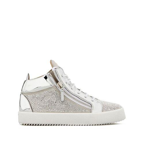 Giuseppe Zanotti 'Justy' Sneakers mit Kristallnieten - Weiß Female regular