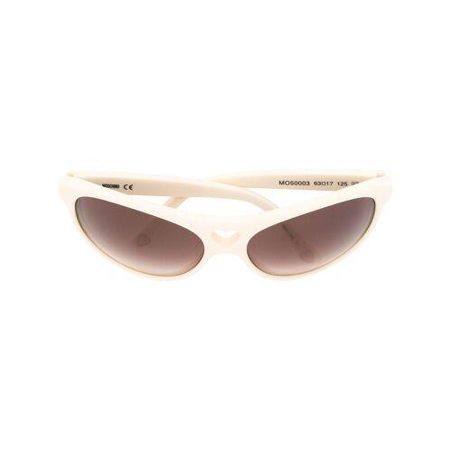 Moschino Pre-Owned Sonnenbrille mit herzförmigem Cut-Out - Weiß Female regular