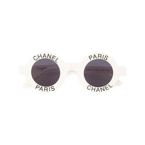 Chanel Pre-Owned Sonnenbrille mit CC-Logo - Weiß Female regular