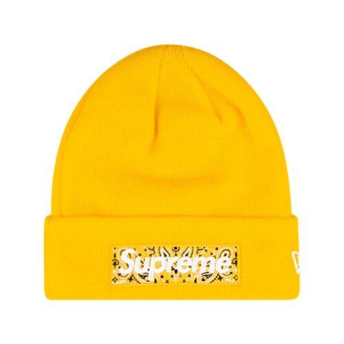 Supreme Supreme x New Era Beanie mit Logo - Gelb Male regular