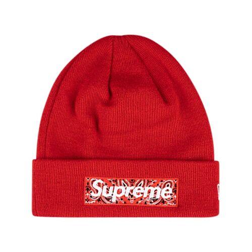 Supreme Supreme x New Era Beanie mit Logo - Rot Male regular