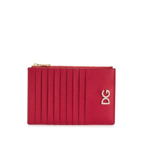 Dolce & Gabbana Kartenetui mit Kristall-Logo - Rot Female regular