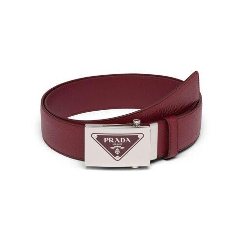 Prada Gürtel mit dreieckigem Logo - Rot Male regular