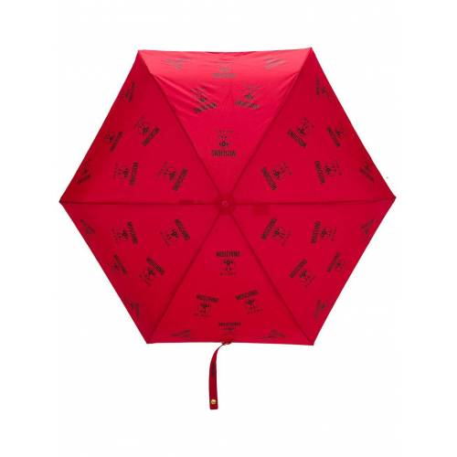 Moschino Regenschirm mit Logo-Print - Rot Male regular