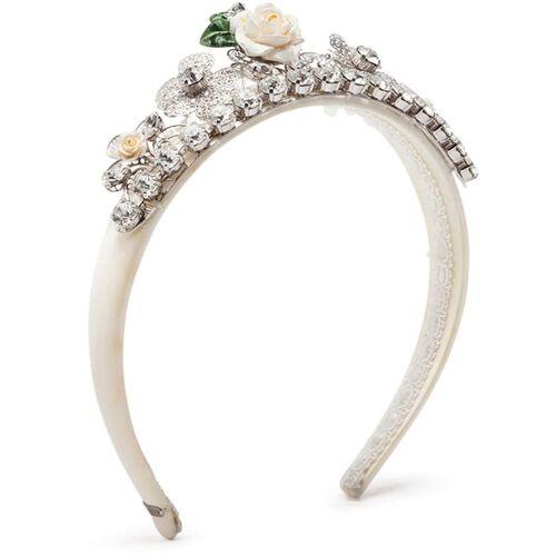 Dolce & Gabbana Kids Haarreif mit Kristallen - Weiß Male regular