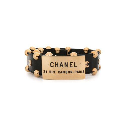 Chanel Pre-Owned Gürtel mit CC-Logo - Schwarz Female regular