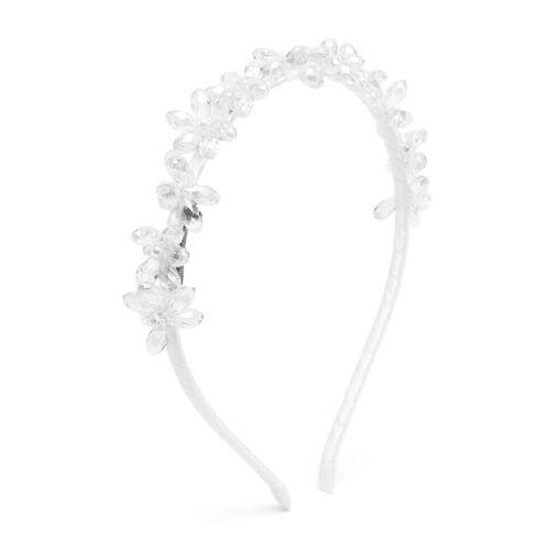 Monnalisa Haarreif mit Kristallblumen - Weiß Unisex regular