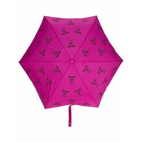 Moschino Regenschirm mit doppelten Fragezeichen - Rosa Male regular