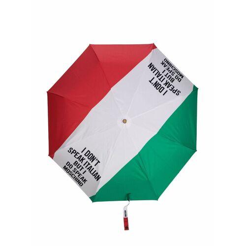 Moschino Regenschirm mit Print - Weiß Male regular