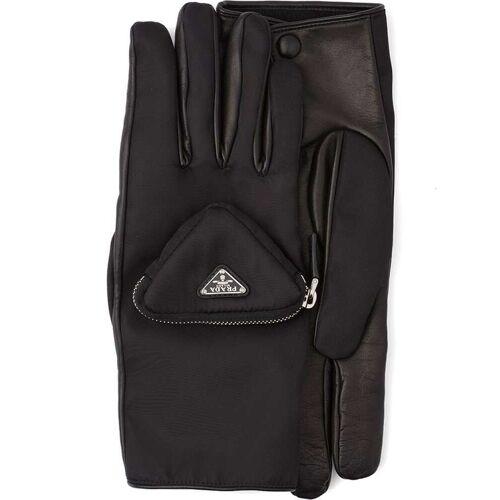 Prada Handschuhe mit Logo - Schwarz Male regular