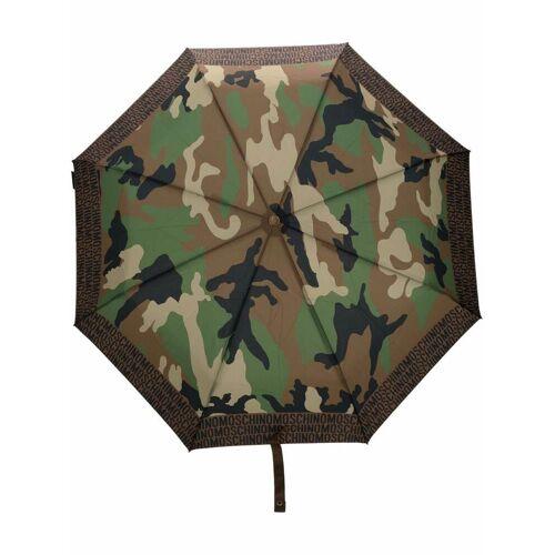 Moschino Regenschirm mit Print - Grün Male regular