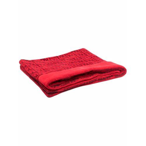 Fendi Badetuch mit FF-Muster - Rot Male regular