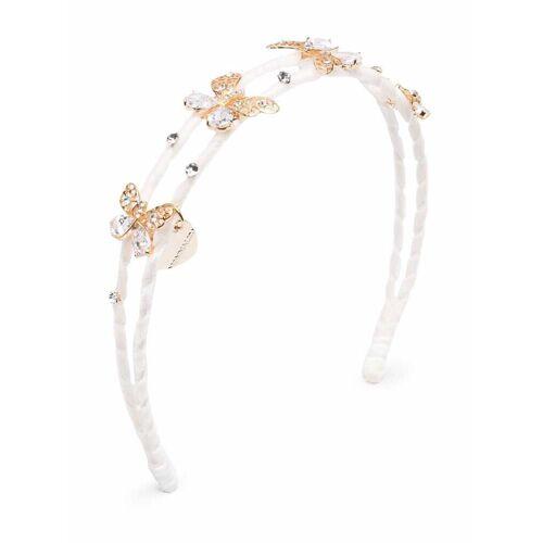 Monnalisa Haarreif mit Kristall-Schmetterlingen - Weiß Female regular