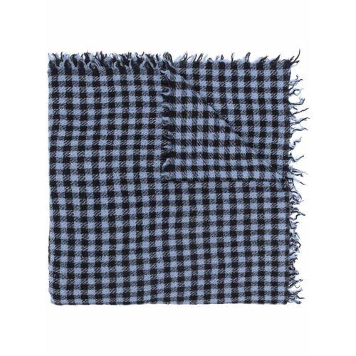 Faliero Sarti Karierter Schal - Blau Male regular