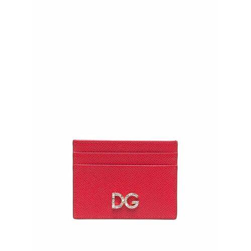 Dolce & Gabbana Kartenetui mit Kristall-Logo - Rot Unisex regular