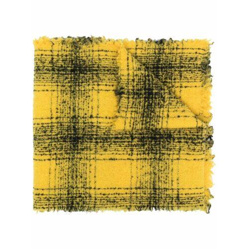 Faliero Sarti Karierter Schal - Gelb Male regular