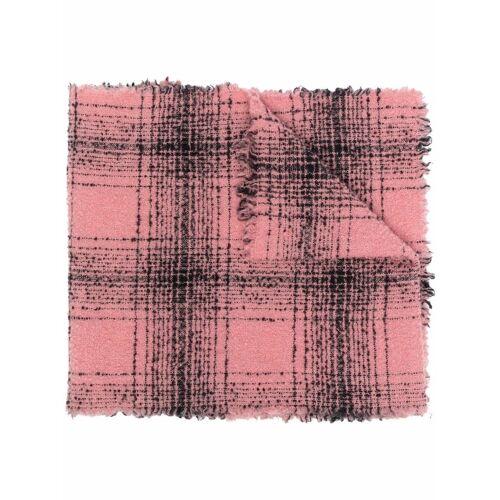 Faliero Sarti Karierter Schal - Rosa Male regular