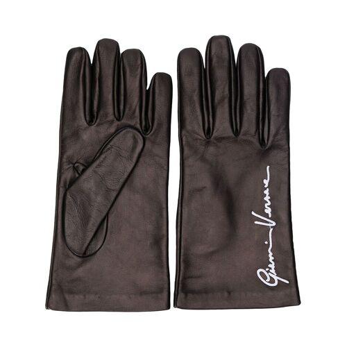 Versace Handschuhe mit Logo-Stickerei - Schwarz Male regular