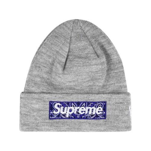 Supreme Supreme x New Era Beanie mit Logo - Grau Male regular